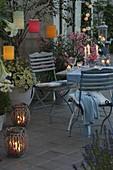 Abendliche Lichter - Terrasse
