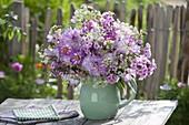 Summer bouquet with phlox, Dahlia, Cosmos