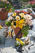 Autumn vegetable table decoration