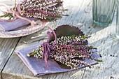 Small posy of Calluna vulgaris