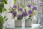 Fragrant bouquet from Syringa, Allium 'Purple Sensation'