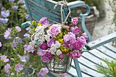 Bouquet of roses and herbs, Rose, Achillea