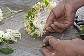 Wreath of elderberry and chamomile