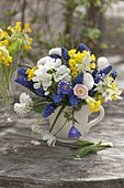 Little bouquet with Bellis (Daisies), Anemone blanda
