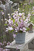 Romantic spring bouquet of prunus triloba (almond branches)