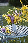 Fragrant bouquet of Forsythia, Hyacinthus
