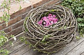 Beaded nest of willow