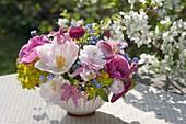 Small Spring Tulipa Bouquet bowl, Ranunculus