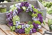 Fragrant syringa and viburnum wreath