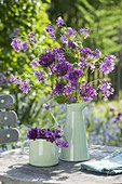 Violet bouquet of Allium and Lunaria
