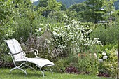 Scented flower bed with cottage jasmine
