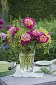 Bouquet of Paeonia lactiflora 'Tom Eckardt', Alchemilla