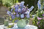 Blue Bouquet from Scabiosa, Delphinium