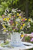 Meadow bouquet of Galega, Daucus, Anthemis