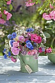 Bouquet in watering can