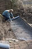 Create a hillside bed in a vegetable garden