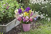 Summer flowers and perennials bouquet