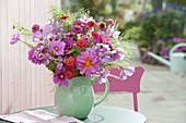 Late summer bouquet of summer flowers and perennials