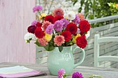 Bouquet of colorful mixed Dahlia