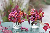 Floristic decorations with finds from the autumn forest
