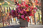 Autumn bouquet of chrysanthemum (autumn chrysanthemum), pink (rose)