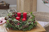 Advent wreath in the forest look