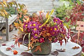 Lush autumn bouquet with chrysanthemums