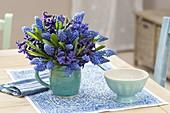 Blue-violet Bouquet from Muscari armeniacum (Grape Hyacinth)