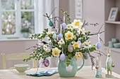 Bouquet made of betula (birch) twigs, larix (larch)