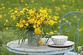 Lush meadow bouquet of Ranunculus acris