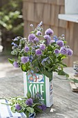 Herb bouquet of chives, sage
