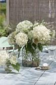 White Bouquet of Hydrangea, Veronica, Daucus