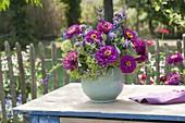 Late summer bouquet of Zinnia, Salvia
