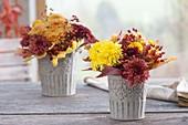 Small chrysanthemum (autumn chrysanthemum) bouquets, pink