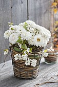 Small chrysanthemum (autumn chrysanthemum) bouquet