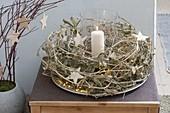 Wreath made of cut lathyrus (perennial vetch) tendrils