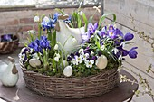 Easter in purple-white planted wreath