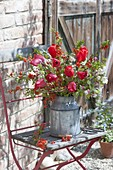 Rural bouquet from Chaenomeles, Malus