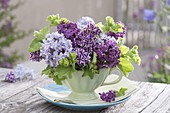 Small Syringa and Alchemilla mollis bouquet