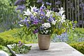 Spring Bouquet 'Quer durch den Garten', Tulipa, Aquilegia