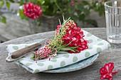Small bouquet of Pelargonium (Geranium), Rosemary (Rosmarinus)