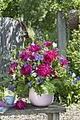 Lush bouquet with Paeonia, Geranium