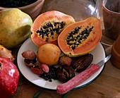 Papaya, lychee, eriobotrya, dates