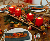 Advent arrangement as a table decoration