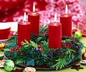 Fix candles on Advent wreath