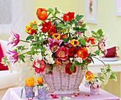 Tulipa 'Claudia', 'Ad Rem', 'Kees Nelis' and 'Crispa' (Tulip)