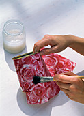 Napkin technique with roses