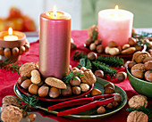 Juglans (walnut), Corylus (hazelnut)