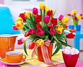 Tulipa, mixed tulip bouquet