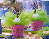 Easter decoration with foam rubber